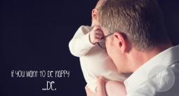 Fotoshooting mit Baby und Papa