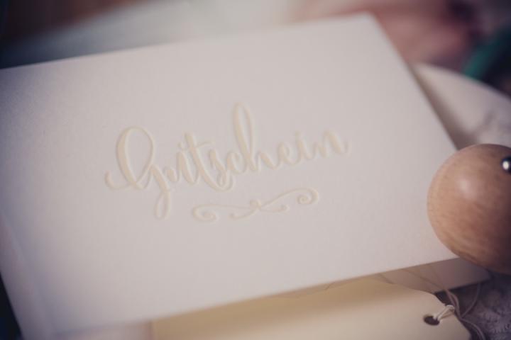 Gustchein Letterpress Weihnachten Fotogeschenk