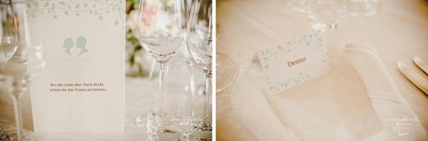 Hochzeit Schloss Neuhaus Sinsheim Tischkarten
