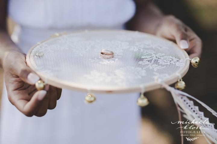 DIY Wedding Tamborine Handmade
